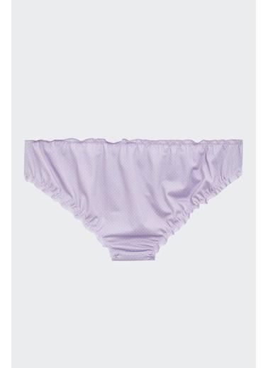 Defacto –Fit Puantiyeli Bikini Külot Mor